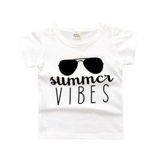 """Summer Vibes"" Kids Graphic Tee. Shop now at www.edgytots.com. #babyfashion #infantclothing #edgytots #kidsfashion #babiesofinstagram #fashion http://www.butimag.com/fashion/post/1482148153260357432_4750723787/?code=BSRpeSDlbc4"
