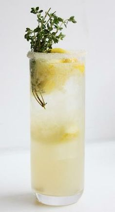 We'll take two, please. Lemon-Thyme Soda. #cocktails