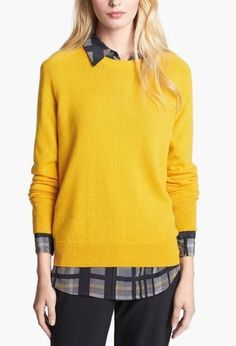 So soft & pairs well with plaid! Equipment Crewneck Cashmere Sweater