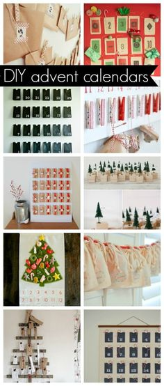 holiday round up: DIY advent calendar ideas - the sweetest digs
