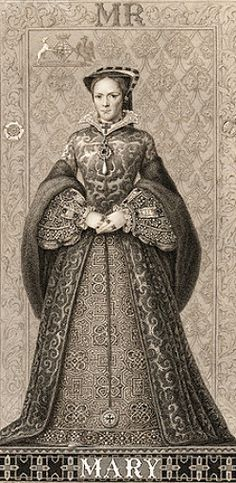 Mary Tudor, Queen of England she had no children but two suspected false pregnancies . She suffered from womb ovarian cysts /menstrual problems. Uk History, Tudor History, European History, Women In History, British History, Asian History, History Facts, Queen Mary Tudor, Mary Queen Of Scots