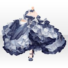 150Gガチャ|@games -アットゲームズ- Model Outfits, Fashion Outfits, Girl Outfits, Anime Girl Dress, Big Dresses, Fashion Design Drawings, Drawing Clothes, Character Outfits, Anime Outfits