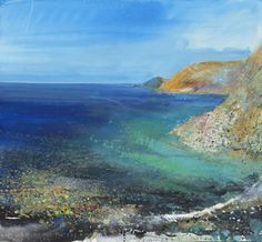 Kurt Jackson - St Just in Penwith. A fabulous artist who lives in Cornwall. I am lucky enough to have two of his paintings of Cornwall our home for 10 years Kurt Jackson, Seascape Paintings, Landscape Paintings, Landscapes, St Just, Historia Natural, Street Gallery, A Level Art, Sea Art