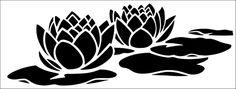 Waterlilies stencil from The Stencil Library online catalogue. Buy stencils online. Stencil code 77.