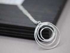 Circles Necklace Silver  Multiple Circles by SilverLotusDesigns, $32.00