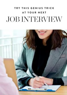 This Simple Job Interview Trick Could Help You Land Your Next Role via @PureWow