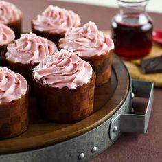 Pomegranate Chocolate Swirl Cupcakes from @Kelly Teske Goldsworthy Jaggers
