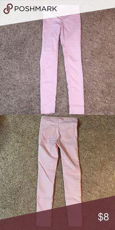 H&M pink jeggings Perfect condition! Blush pink. H&M Pants Leggings