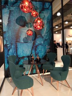 Tom Dixon Wingback Dining Chairs & Melt Pendants - ICFF 2015