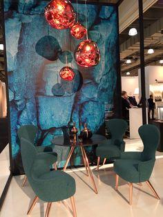 Tom Dixon Wingback Dining Chairs & Melt Pendants - ICFF 2015
