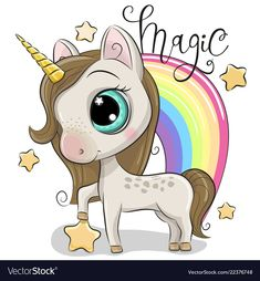 Cute Unicorn and a rainbow isolated on a white background. Cute Cartoon Unicorn and a rainbow isolated on a white background vector illustration Cartoon Cartoon, Disney Cartoon Characters, Cartoon Unicorn, Unicorn Horse, Unicorn Art, Cute Unicorn, Party Unicorn, Unicorn Pictures, Cute Rats