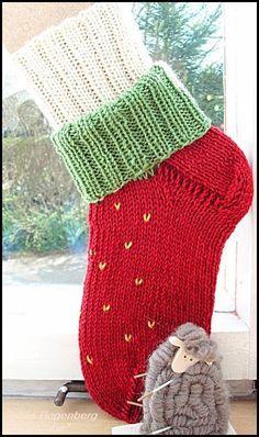 Erdbeer-Socke    mit Doppeltschaft          Wolle: Supergarne 6fach  Nadelspiel: 3,5 (2 Stück)  1 Näh-/Stopfnadel  Größe 38  48 Maschen ges...
