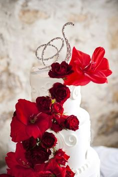Wedding Red Winter ....Cake Wedding..