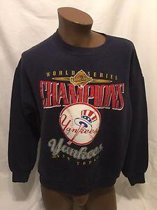 VTG New York Yankees 1996 World Series Champions Crewneck Sweatshirt Large Lee  | eBay