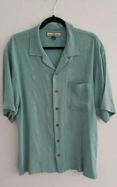 Tommy Bahama  Hawaiian Shirt Hula Girl Sz Large Silk  #TommyBahama #Hawaiian