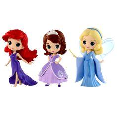 Disney Characters Q posket petit -Ariel・Sofia・Blue Fairy- Shopkins Season 8, Baby Mobile Felt, Funko Toys, Disney Princess Dolls, Disney Figurines, Blue Fairy, Kawaii, Arte Disney, Biscuit