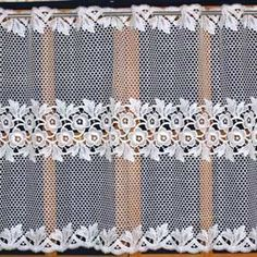 A wide range of high quality macrame curtains available online in custom size. Direct from French manufacturer, expert in lacemaking since Lace Valances, Lace Curtains, Macrame Curtain, Lacemaking, French Lace, Playroom, Pattern, Net Curtains, Game Room Kids