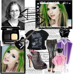 """Avril lavigne Style"" by carlii-bieber ❤ liked on Polyvore"
