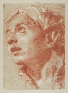 Giovanni Battista Tiepolo, Head of a Young Man in Three-Quarter View.