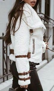Turndown Collar Teddy Bear Jacket Coat Women Streetwear Casual Faux Fu - Mint Rock Co Look Fashion, Teen Fashion, Autumn Fashion, Womens Fashion, Fashion Outfits, Feminine Fashion, Fashion Trends, Sneakers Outfit Casual, Casual Outfits