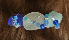 Sea Glass Barrette in Shades of the Sea French by oceansbounty, $16.00