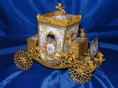 Exquisite Late 19th Century Viennese Enamel Carriage 23cm x 19cm