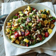 Mediterranean Vegetable and Bean Salad Recipe