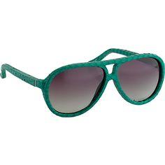 LINDA FARROW Luxe snakeskin aviator sunglasses (Mint