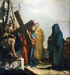 Chiesa di San Polo   VIA CRUCIS IV - Jesus meets his mother by Giandomenico Tiepolo