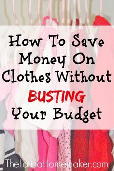 "Before, I would attempt to save by shopping the store ""sales"", but instead I would wind up busting my budget. So here are 12 practical tips that will truly help you save money on clothes. affordable clothing, cheap clothing, frugal clothing"