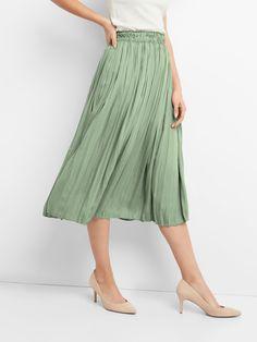 Pleated Midi Skirt|gap