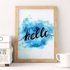 poster hello blue