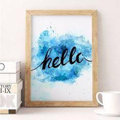 poster hello blue