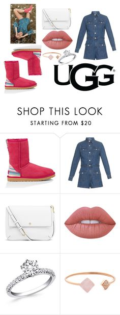 """""""Play With Prints In UGG: Contest Entry"""" by marthabr on Polyvore featuring UGG Australia, AG Adriano Goldschmied, Tory Burch, Lime Crime, Michael Kors and thisisugg"""