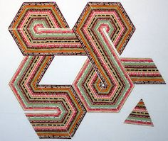 Karen Says Sew: It Is Wednesday In My World    String triangles, 60 degrees