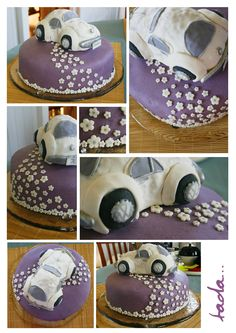 VW Beetle Bug Cake - Thought of you when I saw this @Cristine Snyder!