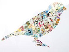 postage stamp art (by kellynowellies, via Flickr)
