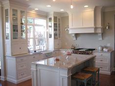 BM edgecomb gray and white dove cabinet color  Oh Eugenia!  Your paint colors called. They are so happy in your kitchen.