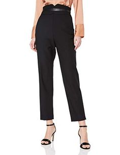 Shop Karen Millen Women's Tailoring Collection Trouser, Black (Black 6 Free delivery and returns on eligible orders. Karen Millen, Cool Girl, Trousers, Suits, Amazon, Stuff To Buy, Shopping, Collection, Black