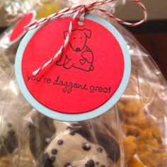 Treat bags for the dog birthday party
