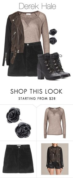 """""""Derek Hale - tw / teen wolf"""" by shadyannon ❤ liked on Polyvore featuring Closed, AllSaints and Charlotte Russe"""