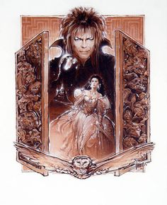 Labyrinth by Steven Chorney David Bowie Labyrinth, Labyrinth Film, Labyrinth Tattoo, Jim Henson Labyrinth, Goblin King, Jennifer Connelly, Fantasy Movies, Fantasy Art, Sarah And Jareth