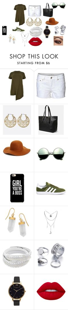 """plus sie people got swag just like skinny and averge people"" by kimrlanier on Polyvore featuring River Island, Dex, Avenue, Violeta by Mango, Phase 3, Revo, adidas, BillyTheTree, Olivia Burton and Lime Crime"