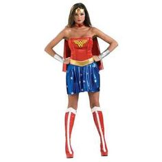 Wonder Woman Adult Costume Large (10-14) @ niftywarehouse.com