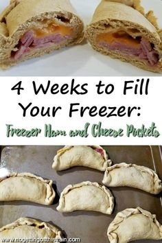 These oven-baked Freezer Ham and Cheese Pockets are a quick, easy-to-make, and portable lunch to have on hand on busy days! Best Freezer Meals, Freezer Friendly Meals, Make Ahead Meals, Freezer Cooking, Frugal Meals, Crockpot Recipes, Cooking Recipes, Meal Prep For The Week, Frozen Meals