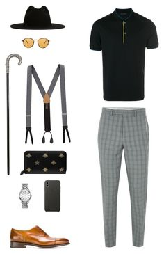 House of Madalani by houseofmadalani on Polyvore featuring polyvore, Prada, Topman, Santoni, Longines, Ray-Ban, Gucci, Trafalgar, Études, Alexander McQueen, Apple, men's fashion, menswear and clothing