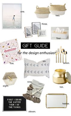 A gift guide for the design enthusiast - great gift ideas 2016 edition