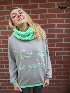 Knit fast die warm!  Half sewn, half crocheted, superwarm blouse :)
