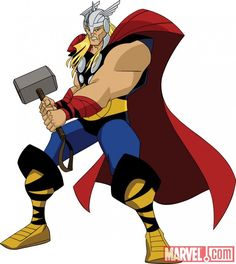 Thor from Marvel's Avengers: Earth's Mightiest Heroes animated series