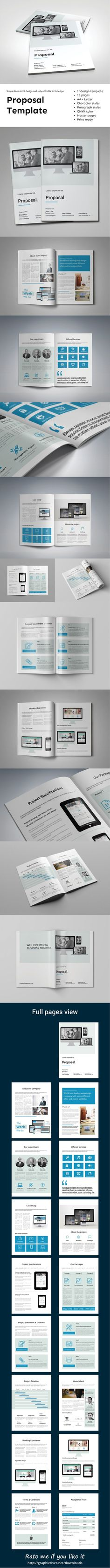 Project Proposal Indesign Template Download Httpgraphicriver
